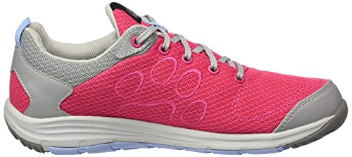 Jack Wolfskin Portland Cruise Low W, Sneakers Basses Femme Rose (Tropic Pink)