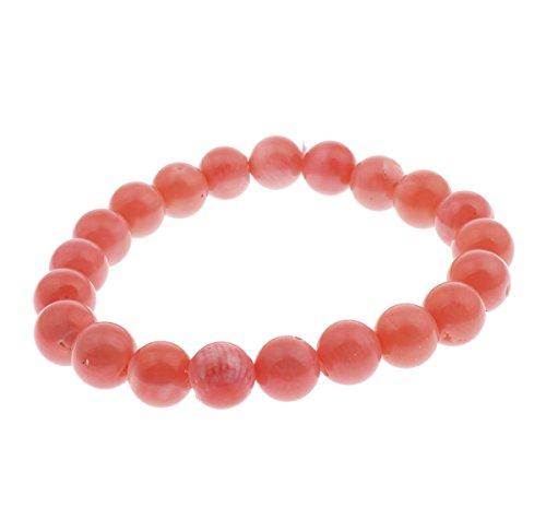 Charming natur 9mm pink coral Armband dehnbar Style 17cm–in Schmuck Geschenk-Box