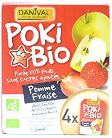 Danival - compotes Poki Bio Pomme Fraise 4X90G