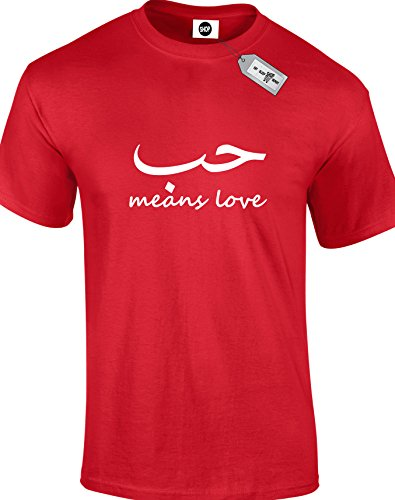 Love-arabic Mens adult unisex T-Shirts. Free delivery included.
