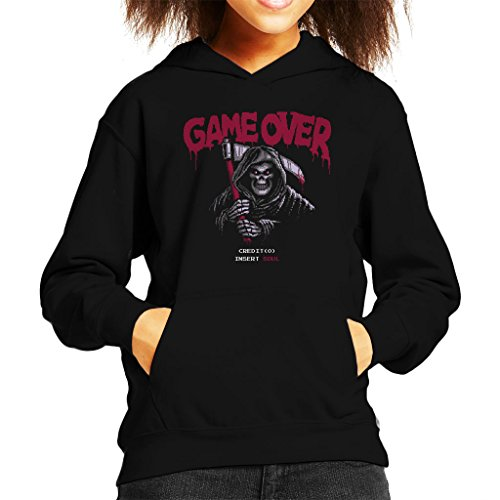 r 8 Bit Shirt Kid's Hooded Sweatshirt (8-bit-halloween-spiele)