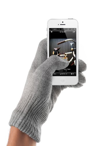 creen Handschuhe für Apple iPhone (Medium/Large) grau (Mj Handschuh)