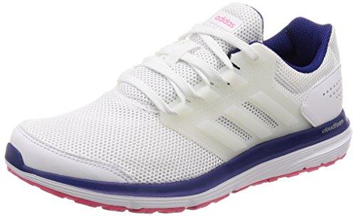 adidas Damen Galaxy 4 Laufschuhe, Elfenbein (FTWR White/FTWR White/Real Purple S18), 38 2/3 EU