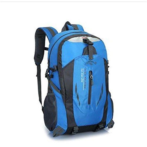 Dlflyb Große Kapazität Rucksack Outdoor Bergsteigen Tasche Männer Und Frauen Reisen Mit Rucksack Große Kapazität 40 L Rucksack blue