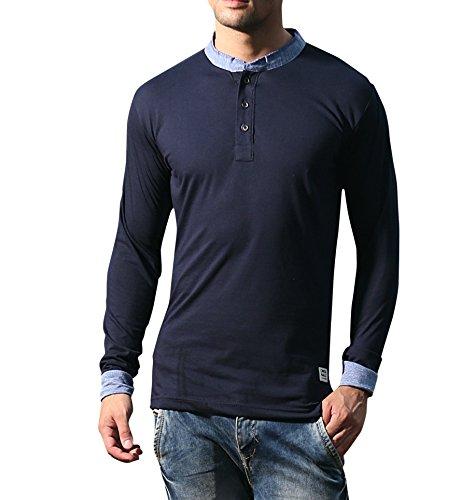 Alan Jones Clothing Mens Cotton T-shirt (STC137-NAVY-S_Small_Navy)