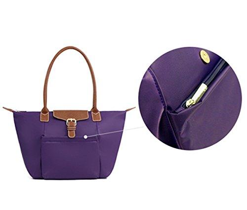 Tibes einfache Art und Weise Handtasche Einkaufstasche Damen Groß Wasserdichter Schultertasche A Schwarz