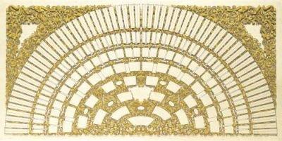 """Schmuck-Ahnentafel\""""Halbkreis mit Ranken\"""" für 8 Generationen, Maße (BxH): ca. 100 x 50 cm, 190g/m²"""