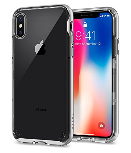 [Sponsored]Spigen Neo Hybrid Crystal Case For IPhone X (2017) - Satin Silver 057CS22174