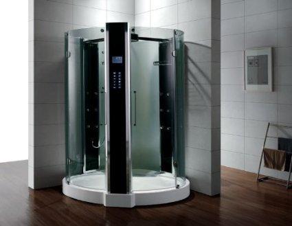 Dampfdusche/Wellnessdusche WS122 1500 x 1500 x 2280mm Rückwandfarbe: schwarz