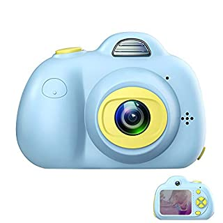 ROTEK Kids Digital Camera, Kids Toys Compact Camera 2 inch Screen Action Camcorder and 8MP Front and Back Camera 1080P HD Video, Creative Kids Camera Gifts for Children Boys Girls ( Blue)