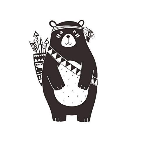 KaiXINSun Zurück Pfeil Bär Wandaufkleber Wohnzimmer Schlafzimmer Zurück Kinder Wandaufkleber Wasserdicht Abnehmbare Kunst Vinyl Zeitung Sport Hause Wandaufkleber