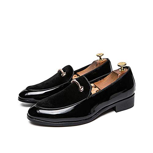 Xujw-shoes, 2018 nuovo mocassini, mocassino alla moda da uomo oxford, cucitura casuale comoda conveniente fodera in pelle verniciata antiruggine metaldecor (color : nero, dimensione : 38 eu)