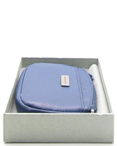 histoireDaccessoires - Portamonete Pelle Donna - PM008031V-LE-Diane BluBlu