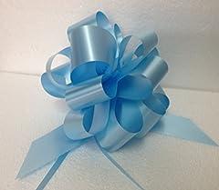 Idea Regalo - Brizzolari - Confezione da 30 Pezzi di Fiocco Strip, Azzurro, 158017.06
