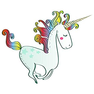 azutura Rainbow Unicorn Wall Sticker Fairytale Wall Decal Girls Bedroom Home Decor available in 8 Sizes Large Digital