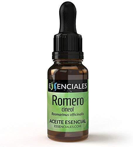 Essenciales - Aceite Esencial de Romero Cineol, 100% Puro, 10 ml | Aceite Esencial Rosmarinus Officinalis...