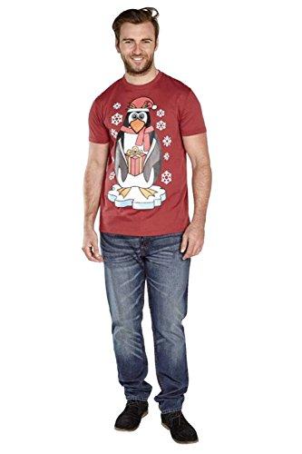 D555 Herren T-Shirt rot rot Small Jolly - Red