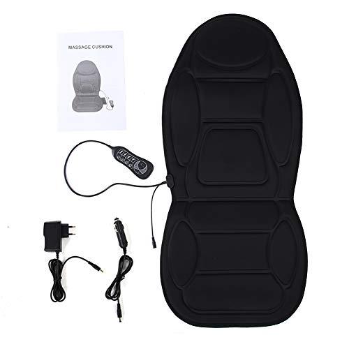 Beheizbare Sitzauflage, Massagesitzauflage mit Wärmefunktion Nacken Rückenmassage Sitzauflage für Auto Bürostuhl 110-230V, 12W