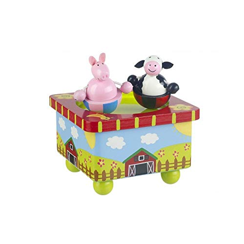 Orange Tree Toys : Farm Yard Wooden Music Box Farm Music Box