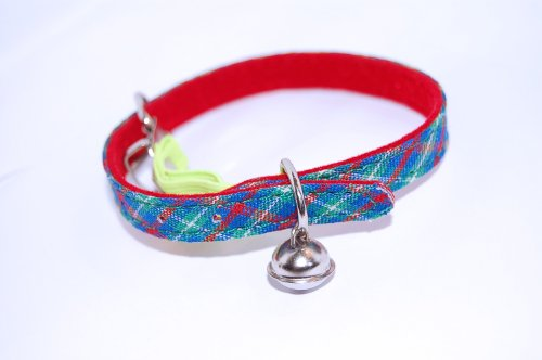 Pet-PalaceTM-Celtic-Cat-tartan-Safety-Collar-with-tinkly-bell