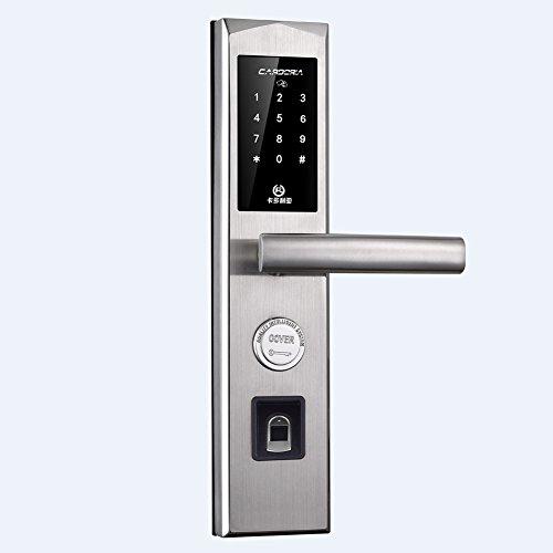 Bluetooth Fingerabdruck Biometrische Türschloss Mit Keyless Tastenfeld Locks Smart Home Eintrag Mit App Remote Entsperren,Reversibel Griff-A (Biometrische Tastatur)