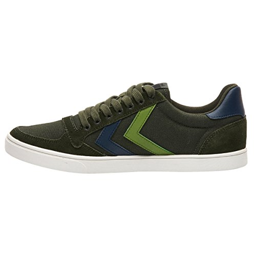 Hummel Slimmer Stadil Duo Canvas Low, Sneakers Basses Mixte Adulte Vert (Rosin)