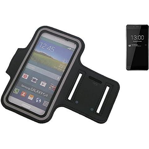 Montare neoprene bracciale Jogging Case / Sport Armband / involucro Sport / Sport / Alta Armband per OnePlus X in nero, con riflettore. Universal Fitness fascia da braccio per l'uso esterno del OnePlus X. Con l'assunzione di cuffie / auricolari è possibile anche ascoltare la musica durante l'allenamento con i tuoi OnePlus X. Nello scomparto chiave pratico portare la chiave di casa in determinate. Braccialetto wristband di alta qualità,