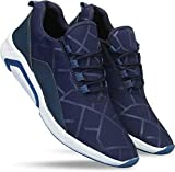 layasa Men's Air Series Mesh Running Shoes (Size: 8 UK, Color: Blue)