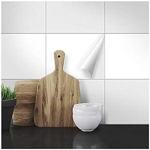 Wandkings Fliesenaufkleber - Wähle eine Farbe & Größe - Weiß Seidenmatt - 20 x 25 cm - 100 Stück für Fliesen in Küche, Bad & mehr