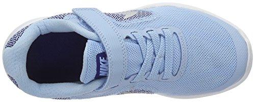 Nike Revolution 3 (Psv), Scarpe da Corsa Bambina Azul (Bluecap / Metallic Silver-Deep Royal Blue)