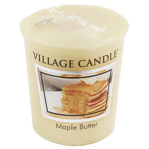 Village Candle 106102325 Ahornsirup Votive Duftkerze 57 g, Wachs, gelb, 5.0 x 4.5 x 5.5 cm