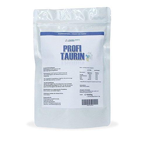 1Kg L-Taurin, reines Pulver, 1000 g reine Aminosäure - Leistungssteigerung - Muskelaufbau -