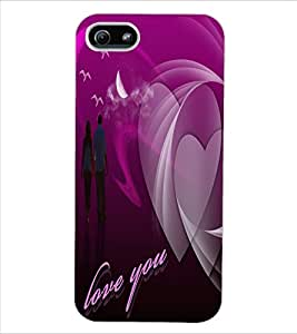 ColourCraft Lovely Couple Design Back Case Cover for APPLE IPHONE 5