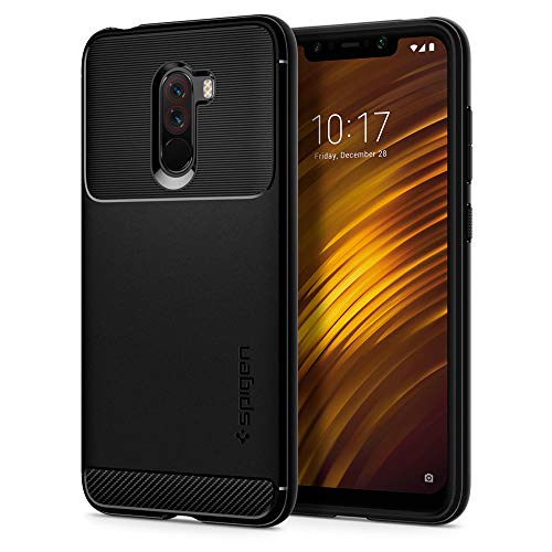 Spigen Rugged Armor Case for Xiaomi Poco F1 / Pocophone F1 (2018) – Matte Black S23CS25224
