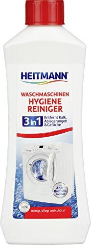 HEITMANN Waschmaschinen 3- in 1 Hygiene Reiniger: entfernt Kalk, Ablagerungen & Gerüche von Gummi- und Metallteilen - mit Anti-Biofilm-Formel, materialschonende Formel