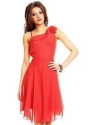 Kurzes One Shoulder Träger Kleid Cocktailkleid Partykleid, verschiedene Farben