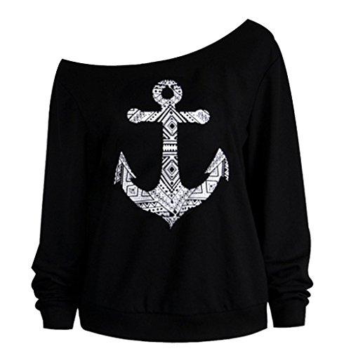 damen-schulterfrei-langarm-pulli-lose-sweater-jumper-sweatshirt-baggy-tops-bluse-schwarz-anchor-m