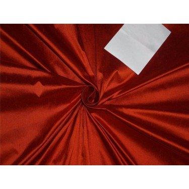 100% Pure Seide Dupionseide Stoff Kaminrot Farbe 137,2cm ohne Teppich in grober Weboptik * by the Yard