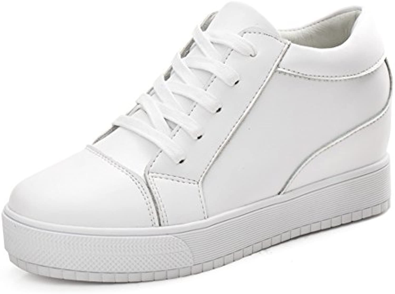 Primavera Zapatos De Cuero Blanco,Zapatos Altos De Mujer,La Versión Coreana De Los Zapatos De Suela Gruesa,Las...