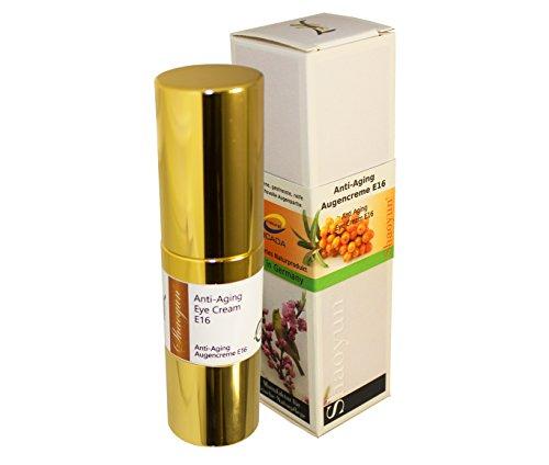 Anti-Aging Augencreme E16 frisches Naturkosmetik für trockene und anspruchsvolle Augenpartie sowie gegen falten und augenringe bio (15ml)