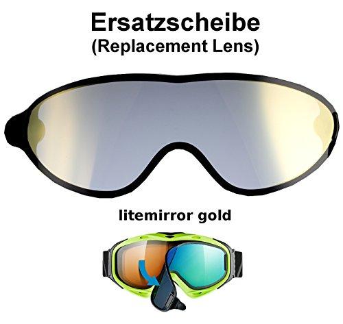 uvex comanche TO off ess Ersatzscheibe für Skibrille comanche als take off - single lens litemirror gold