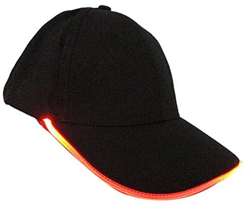 Belsen unisex Leuchtende Nacht Kappe LED Licht mützen Baseball Hut (orange)