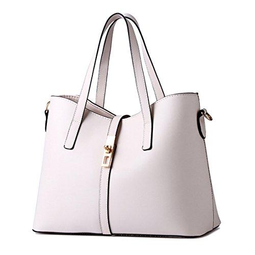 YYWLarge Tote Bag - Borsa tote grande Donna Off white