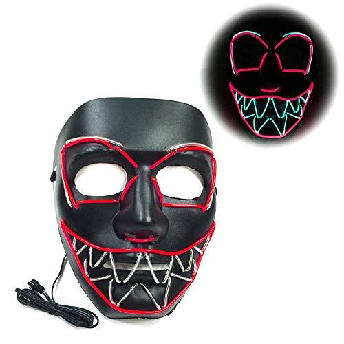 WEISY Halloween LED Maske, leuchtende Maske Cosplay für Party, Festival, Cosplay, Halloween