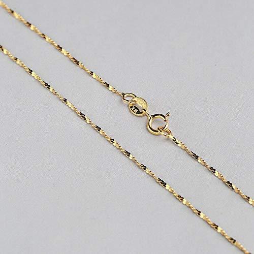 Starry Brillante 1,2 MM Sterling Silber Kette Solide 925 Italien Halskette 16 & 18 Zoll Weiß/Rose/Gelb Gold Farbe (In 18 Silber-kette)