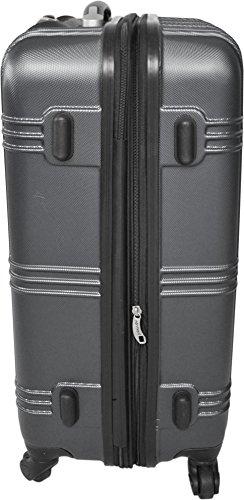 REISEKOFFER REISEKOFFERSET TROLLEY KOFFER 2er oder 3er SET von normani®, 4 kugelgelagerte Leichtlauf-Rollen, 360-Grad-Rollen-System New-Style-Anthracite