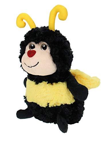 WIESENFREUNDE Kuscheltier Biene mit Glitzeraugen / Herzchennase: sitzend ca. 22 cm
