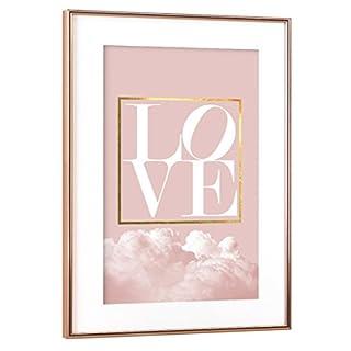 artboxONE Poster mit Rahmen Kupfer 30x20 cm Love von Linsay Macdonald - gerahmtes Poster