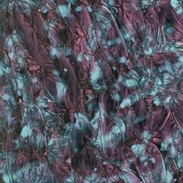 Mosaic Craft – 5 x 10 cm plate – Van Gogh en verre – Violet bleu vert
