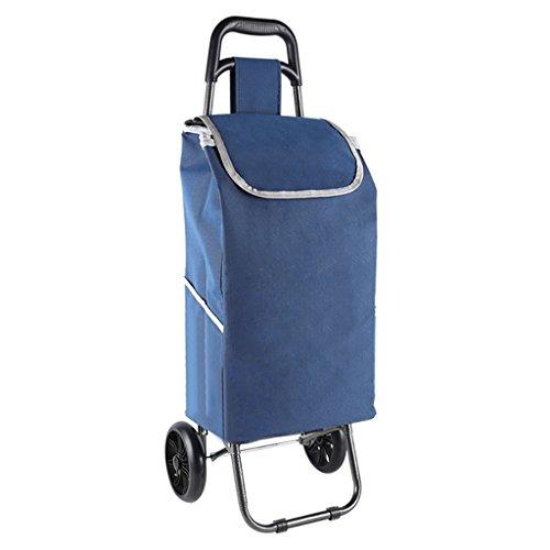 shopping cart JF Einkaufswagen Große Kapazität/Trolley/Supermarkt Einkaufen/Handhabung von Waren/Portable Falten (Farbe : A, Größe : PU Crystal Wheel) (Golf-cart Großer Tag)